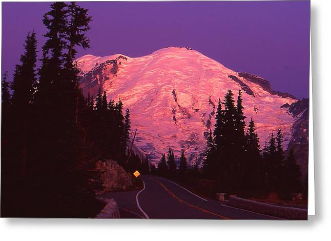 Highway To Sunrise Greeting Card