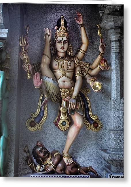Hindu God Kali Greeting Card by Carl Purcell