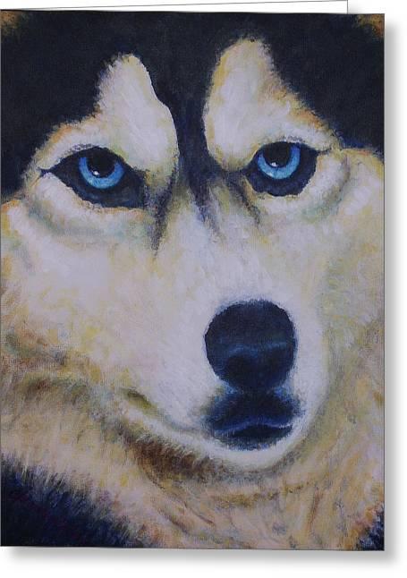 Husky For Cyrus Greeting Card