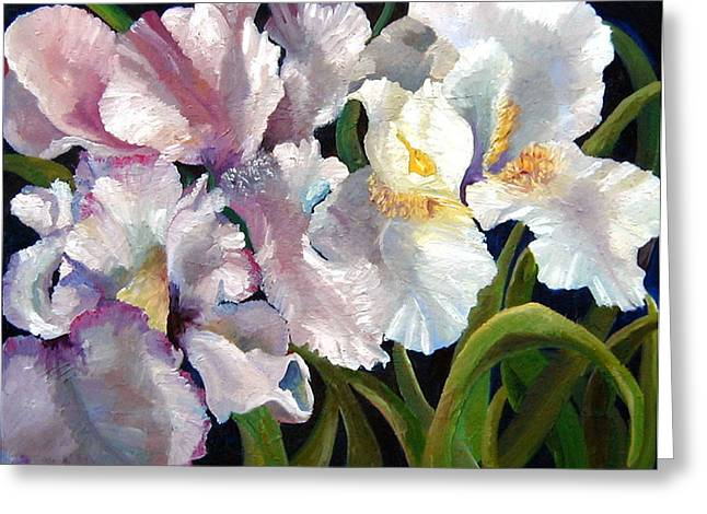 I Love Iris Greeting Card by Marcy Silverstein