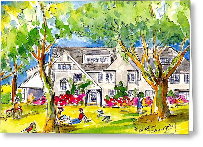 Ida Mann Dormitory, Reed College Greeting Card by Collin Murphy