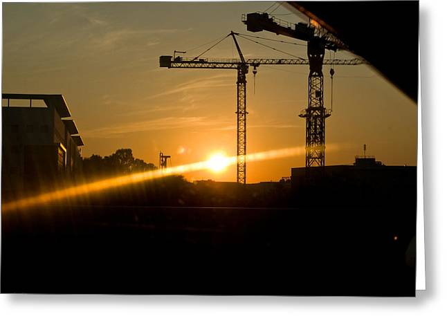 Industrial Sunrise Greeting Card