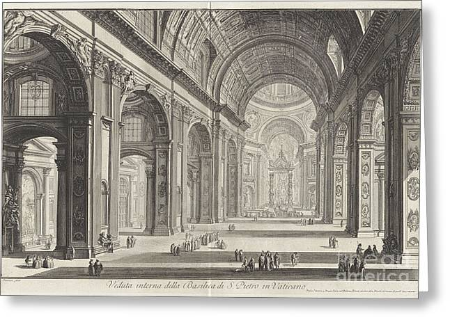 Interior View Of The Basilica Of San Pietro Greeting Card by MotionAge Designs