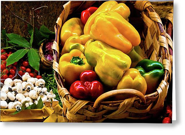 Greeting Card featuring the photograph  Italian Peppers  by Harry Spitz