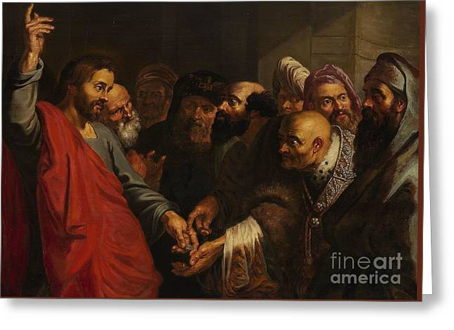 Jesus And The Pharisees Greeting Card