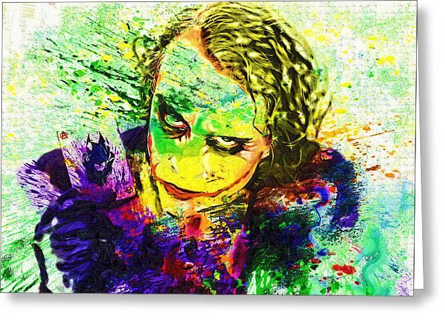 Joker Greeting Card by Elena Kosvincheva