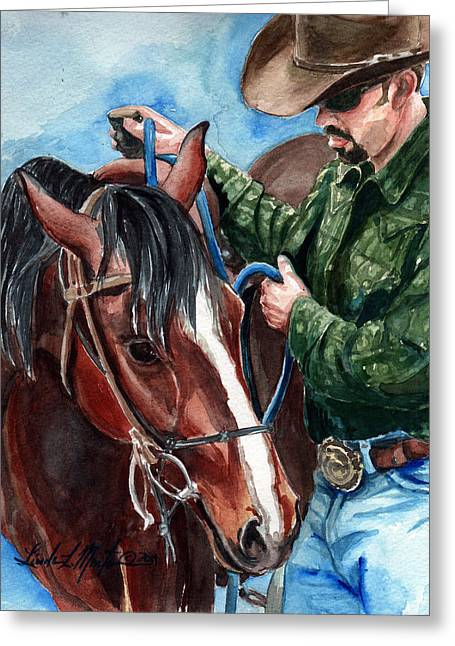 Wild Horses Greeting Cards -  Just A Bit Greeting Card by Linda L Martin