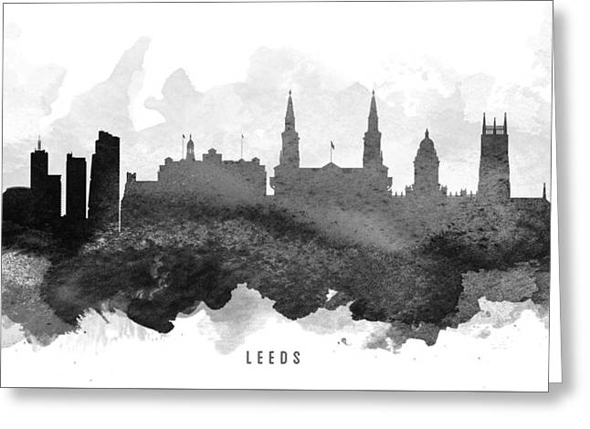 Leeds Cityscape 11 Greeting Card by Aged Pixel