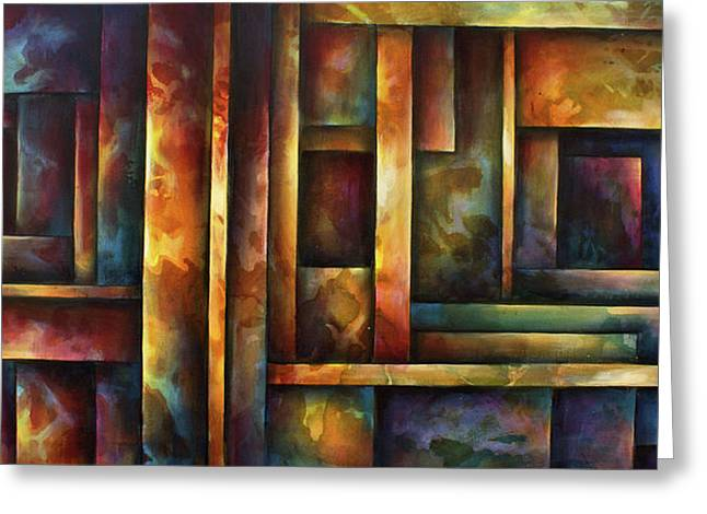 ' Levels Of Order ' Greeting Card by Michael Lang