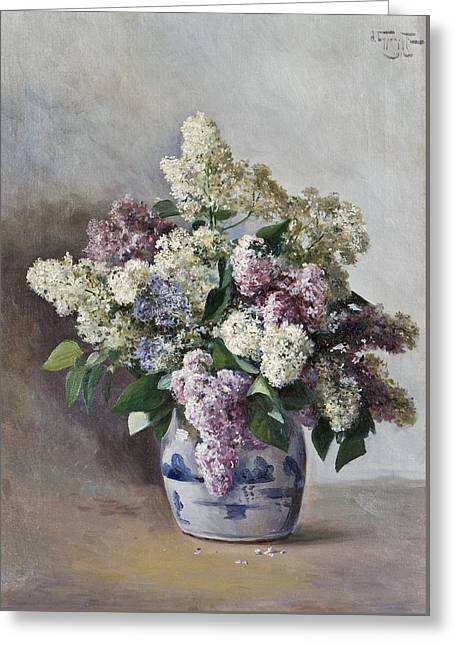 Lilacs In A Pot Greeting Card