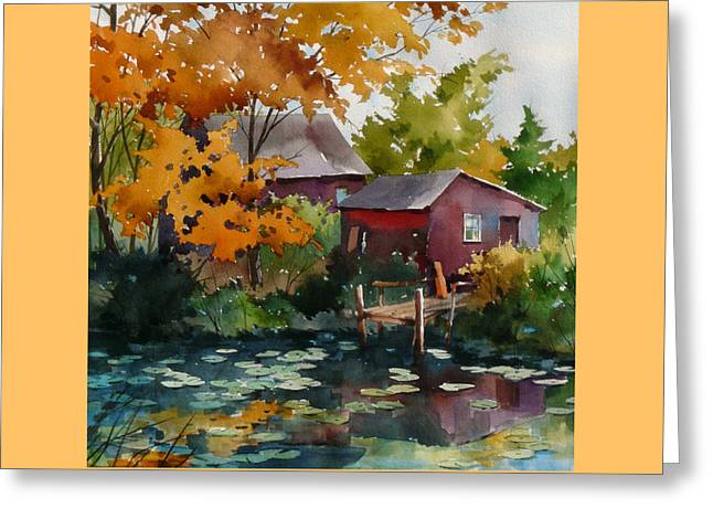 Lily Pond Greeting Card by Art Scholz