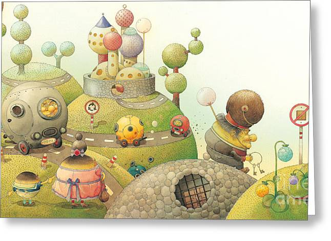 Lisas Journey06 Greeting Card by Kestutis Kasparavicius