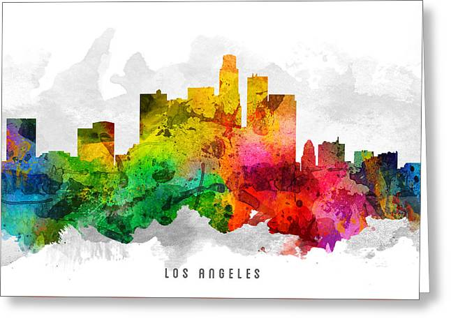Los Angeles California Cityscape 12 Greeting Card
