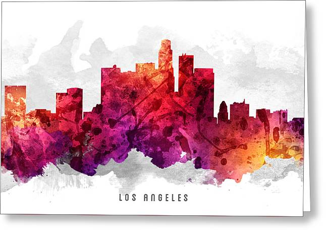 Los Angeles California Cityscape 14 Greeting Card