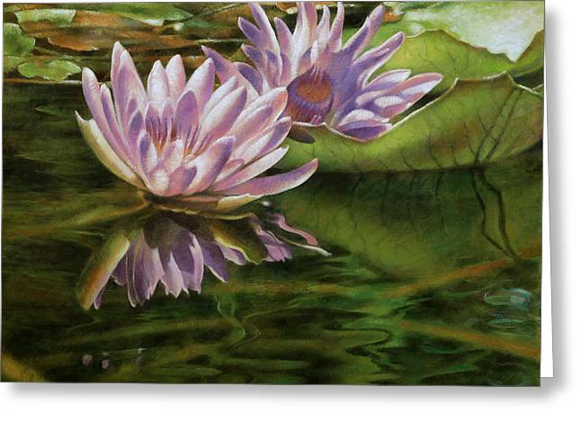 Lotus Of Heviz Greeting Card by Arthur Braginsky