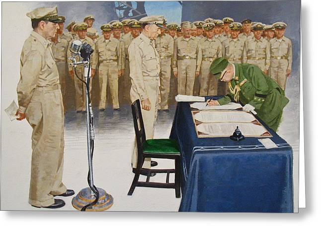 Greeting Card featuring the painting  Macarthur by Cliff Spohn