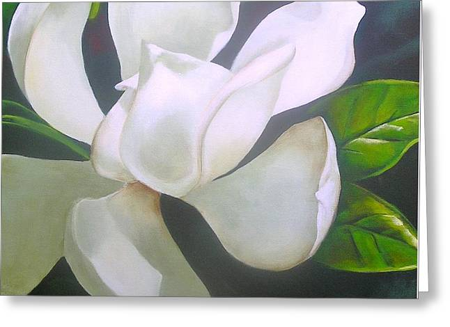Magnolia Delight Painting Greeting Card