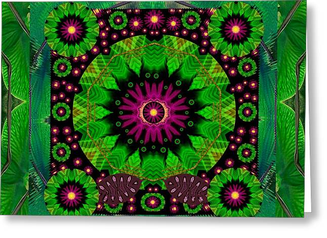 Mandala With Real Stuff Decorative Greeting Card
