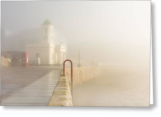 Margate Harbour Greeting Card by Ian Hufton