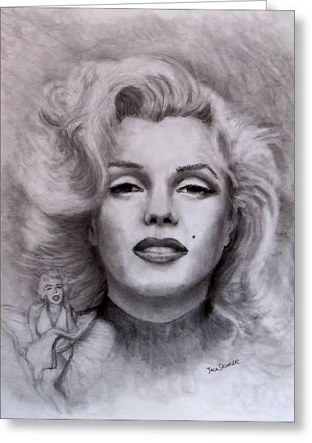 Marilyn Greeting Card by Jack Skinner