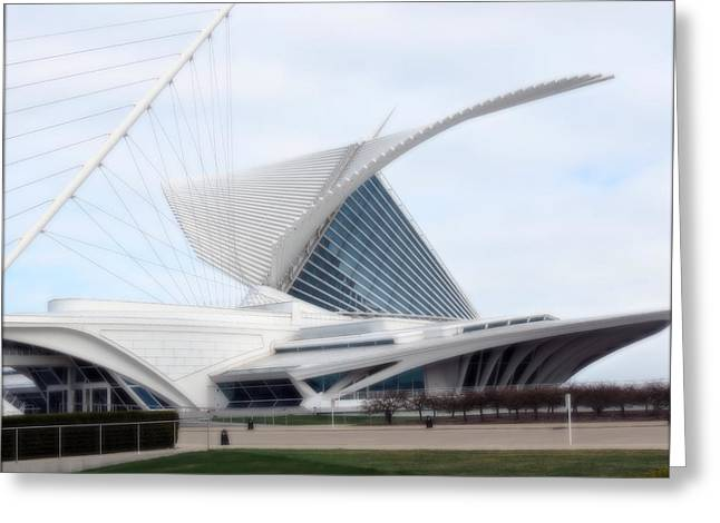 Greeting Card featuring the photograph  Milwaukee Art Museum by Kay Novy