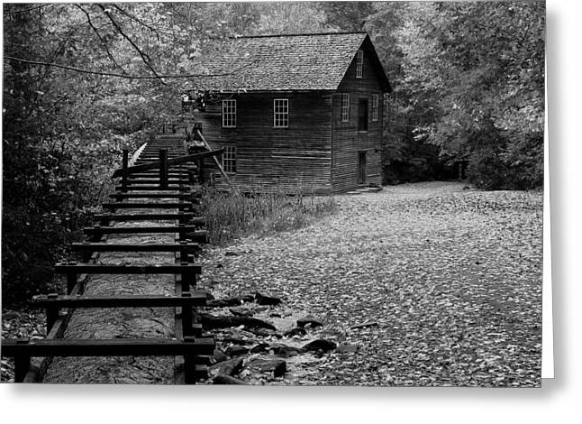 Mingus Mill - Black And White Greeting Card