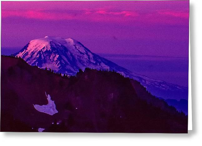Mt. Rainier Sunrise Greeting Card
