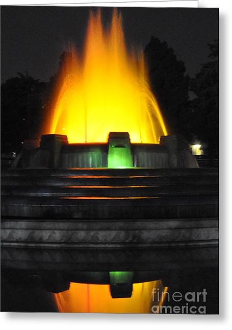 Mulholland Fountain Reflection Greeting Card