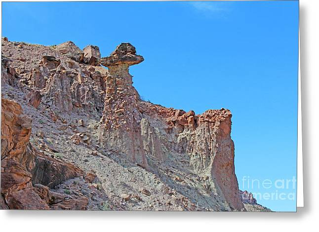Multihued Conglomerate Rock Formation Colorado  Greeting Card