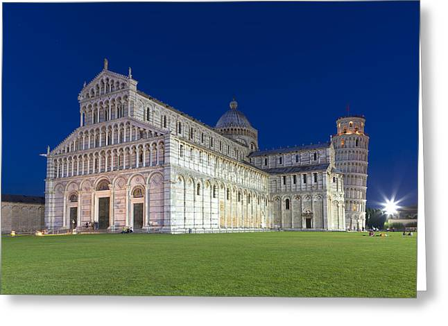 Night In Pisa Greeting Card by Sebastian Wasek