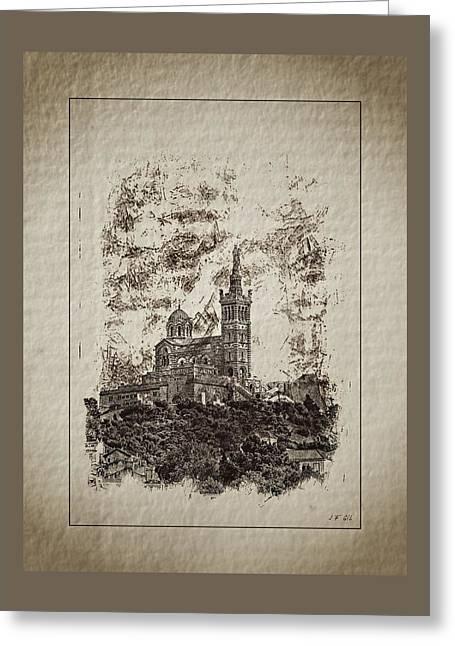 Notre-dame De La Garde Greeting Card by Jean Francois Gil