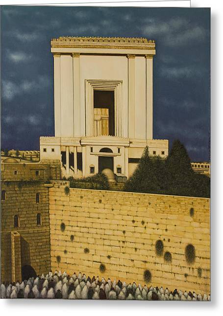 Old Jerusalem. The Third Themple. Greeting Card by Eduard Gurevich