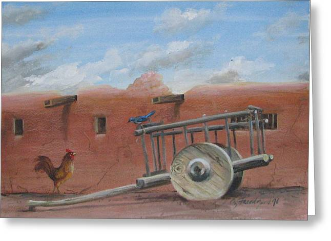 Old Spanish Cart  Greeting Card