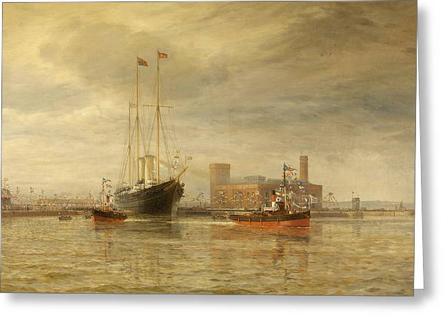 Opening Of The Royal Edward Dock, Avonmouth Greeting Card by Arthur Wilde Parsons