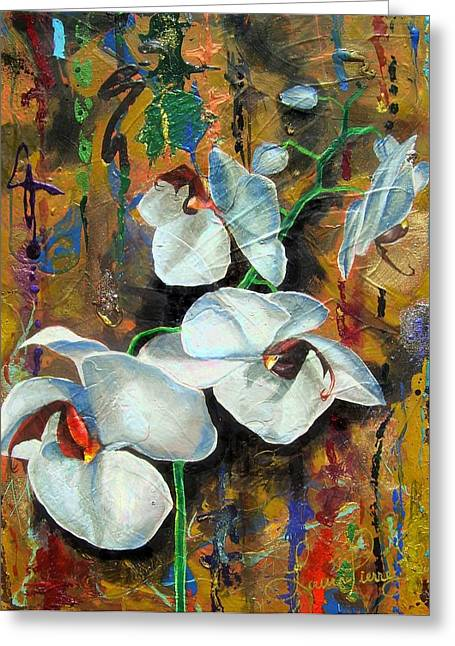 Orchid Yo Greeting Card by Laura Pierre-Louis