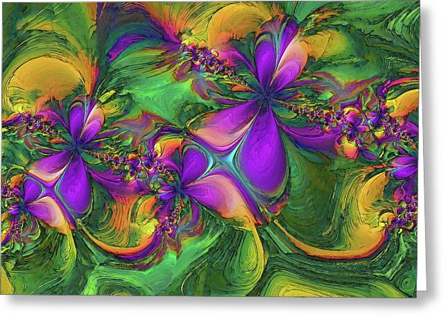 Orchids Greeting Card by Alexandru Bucovineanu