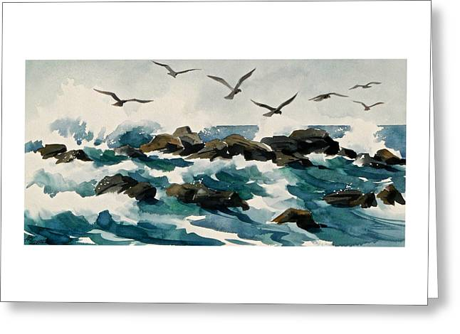 Out To Sea Greeting Card by Art Scholz