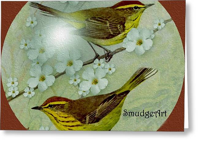 Palm Warbler Greeting Card by Madeline  Allen - SmudgeArt