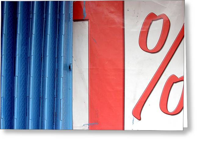 Greeting Card featuring the photograph  Percent by Jez C Self