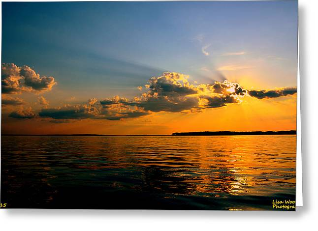 Greeting Card featuring the photograph  Perfect Ending To A Perfect Day by Lisa Wooten