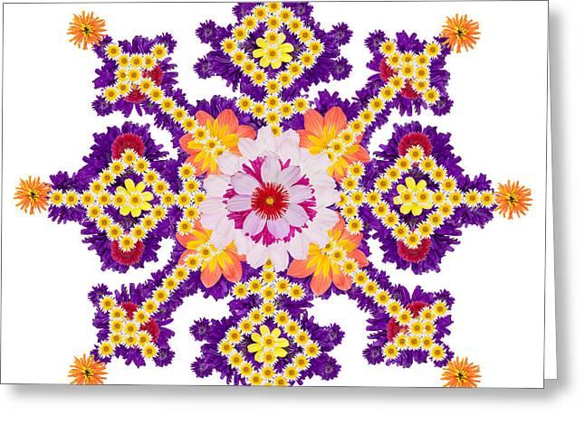 Persian  Rug-  Water Garden Blue Star Greeting Card by Aleksandr Volkov