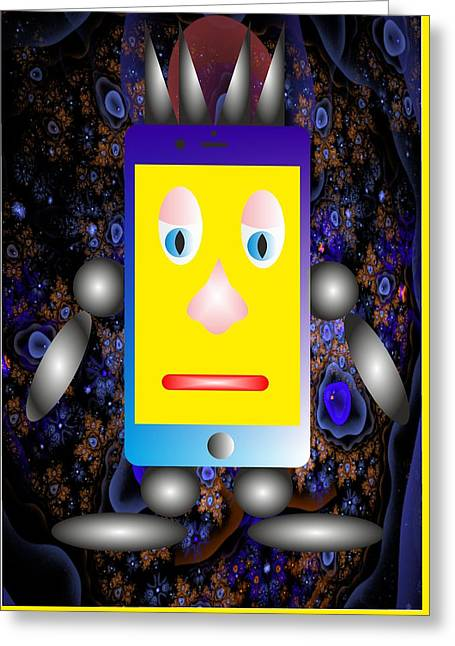 Phone And Universe - My Www Vikinek-art.com Greeting Card