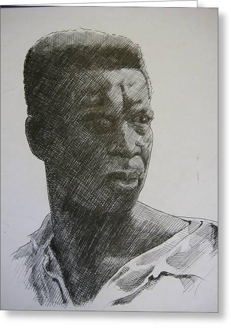 Photograph Of K. C. Greeting Card by Dalushaka Mugwana