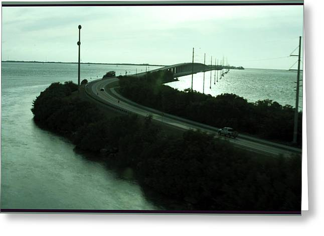 Photography Of Roads N Baches 90 Miles South Of Miami On The Island Chain Of Islamorada Greeting Card
