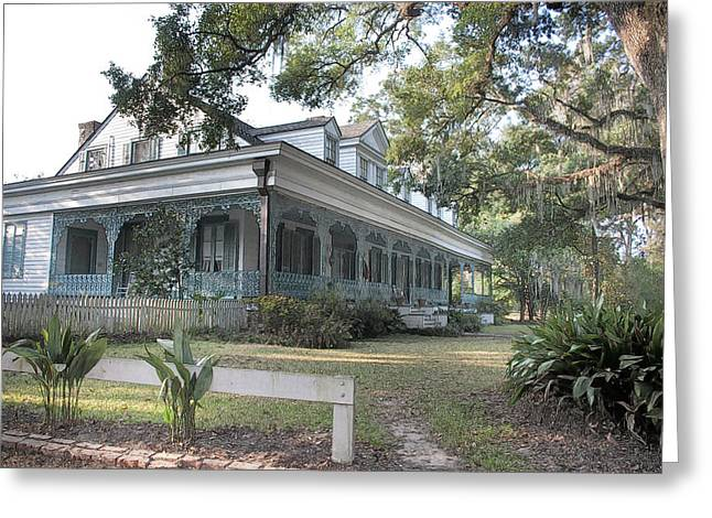 Greeting Card featuring the photograph  Plantation Home by John Hix