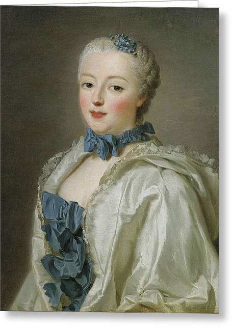 Portrait Of Francoise-marguerite De Sevigne  Greeting Card