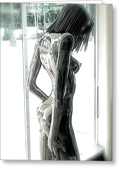 Nude Sculptures Greeting Cards -  Prior Evolution of Eve figure 4  Greeting Card by Greg Coffelt