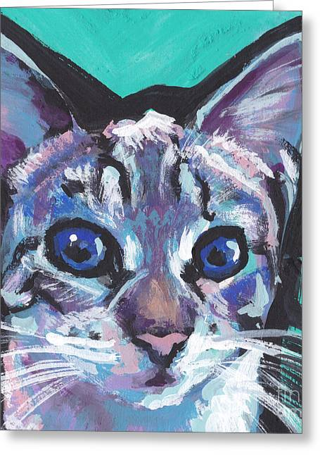 Pritty Kitty  Greeting Card by Lea S