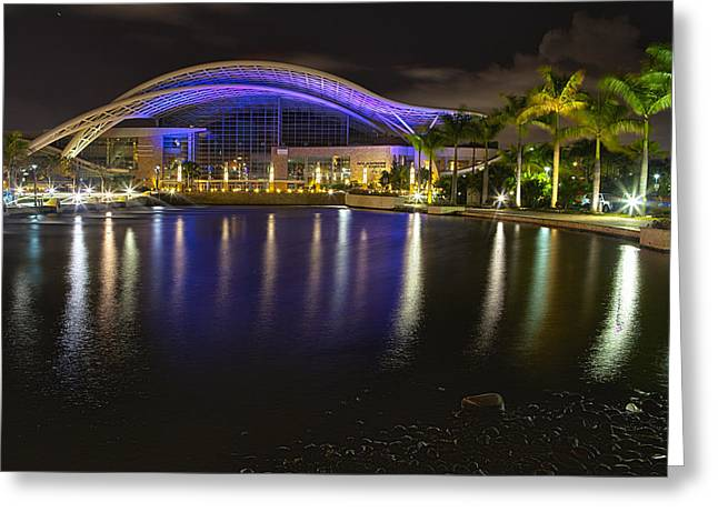Puerto Rico Convention Center At Night Greeting Card