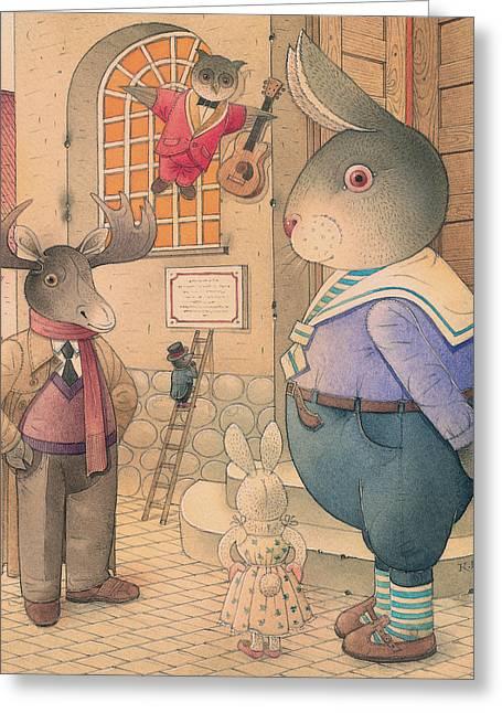 Rabbit Marcus The Great 21 Greeting Card by Kestutis Kasparavicius